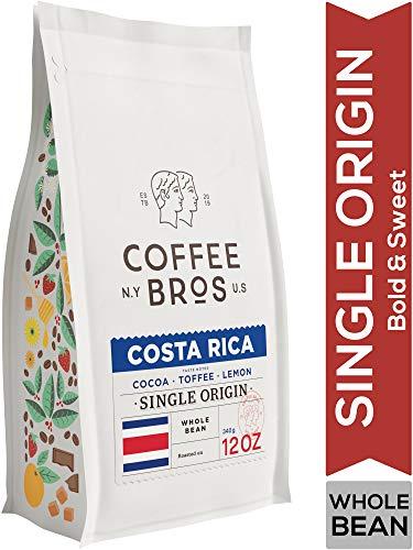 Coffee Bros., Costa Rican Coffee, 100% Arabica, Whole Bean Single Origin Coffee, 12oz