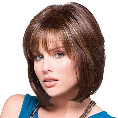 FFWIGS Black Short Bob Wave Wig Perruques synthétiques Boby Wave Hair for Black/White Women Natural As Real Hair Cheveux en Fibre Haute température