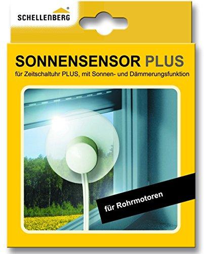 Schellenberg 25556 Sonnensensor Plus mit 1,5 m Kabellänge für Zeitschaltuhr PLUS 25555