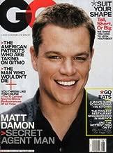 Gq Magazine August 2007: Matt Damon Secret Agent Man