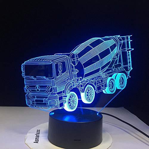 7 Farben wechselndes Nachtlicht 3D LED Mixer Autotisch Schreibtischlampe,Kinderbett Nachtmixer LKW Beleuchtung Weihnachtsgeschenke Dekor