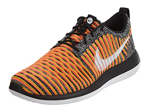 Nike Womens Roshe Two Flyknit Running Trainers 844929 Sneakers Shoes (uk 5.5 us 8 eu 39, black white bright mango 005)