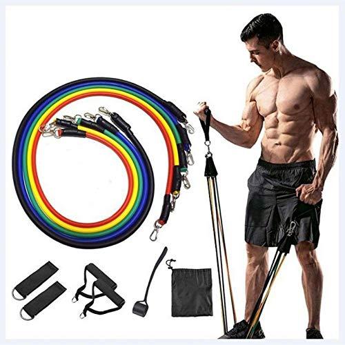 hdfj12138 11-teilige Sets multifunktionaler Muskel-Yoga-Trainingsseile Krafttraining Widerstandsband Persönliches Zubehör für die Gesundheitsfürsorge