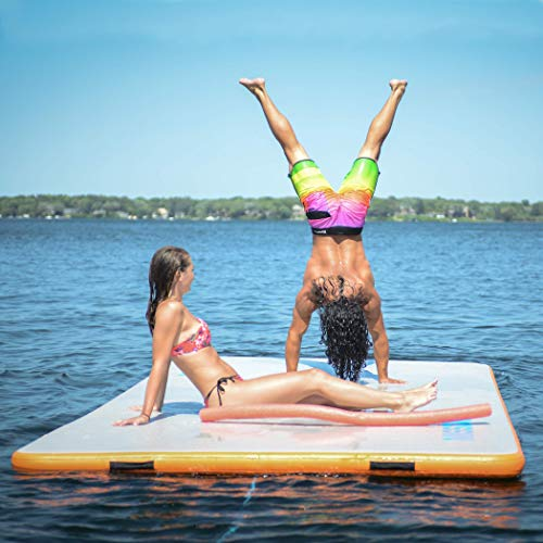 MISSION Boat Gear REEF Mat Inflatable Floating Dock Water Lounge (6.5' x 13')
