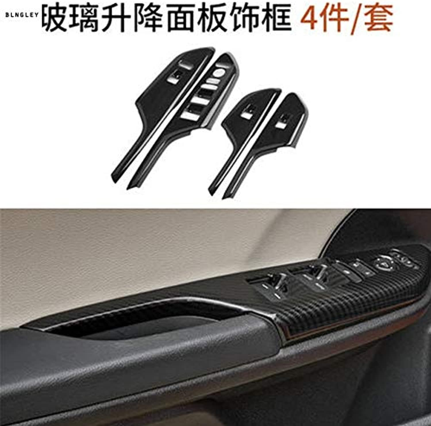 4pcs lot ABS Carbon Fiber Grain car Window Lift Panel Decoration Cover for 20162018 Honda Civic MK10