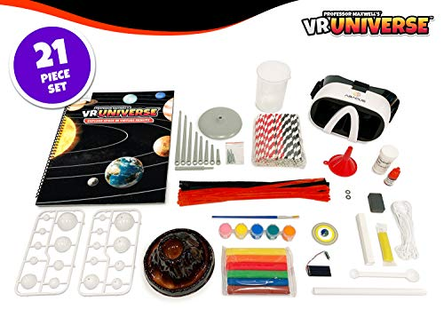 Professor Maxwell's VR Universe - Virtual Reality Kids Space Science Book and Interactive Learning Activity Set (Full Version - Includes Goggles)