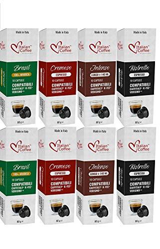 Caffitaly -Capsulas de Cafe Compatibles 80 ud 4 Variedades Degustación