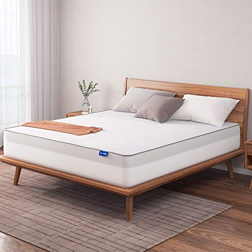 Sweetnight Mattress Topper King Size with Waterproof Mattress Protector, 2 Inch Cooling Egg Crate Gel Memory Foam Topper Ultra Plush, Plus 4 Bed Sheet Holder Straps, King Size, White (SN-T001-2-K)