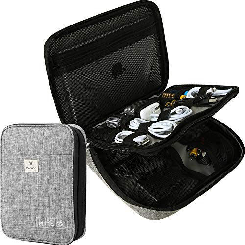 VASCO Travel Electronics Gadget & Cable Organizer Bag – Smart & Safe Storage (Grey)