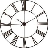Kare Reloj de Pared Decorativo, Modelo Fabbrica, Grande XXL, Moderno, Diseño Vintage, 120 x 120 x 4.5 cm, Marrón