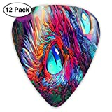 Beautiful Colorful Cat Avatar Exquisite Shell Surface Guitar Pick-12 Pieces of Packaging General Purpose