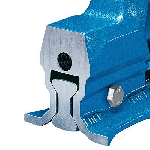 HEUER 100120 Schraubstock (120 mm) | ganz aus Stahl (unzerbrechlich) mit integriertem Amboss und Trapezgewinde, für höchste Präzision | Backenbreite: 120mm, Durchmesser: 16-55mm, 9 Kg - 3