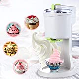NBCDY Ice Cream Maker, Fully Automatic Mini Fruit Soft Serve Ice Cream Machine