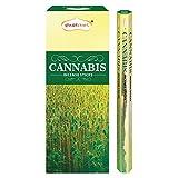 Shubhkart - Varillas de incienso de alcanfor (6 tubos dentro de la caja), 120 varillas (cannabis)