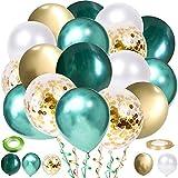 60 Stück Luftballons Grün White ...