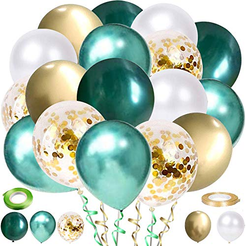 tarumedo 60 Stück Luftballons Grün White Bild