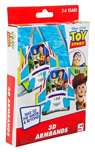 Sambro DTS-3394 - Manguitos de natación con Efecto 3D, diseño Toy Story con Woody y Buzz Lightyear, para niños de 3 a 6 años, con válvula de Seguridad, Ideal para Piscina, Playa y Piscina, Multicolor