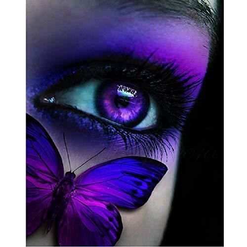 AZYVv Erwachsenen Puzzle 1000 Teile 3D Puzzles Lila Auge Schmetterling DIY Frei Zeit Home Dekoration Kreative Kunst