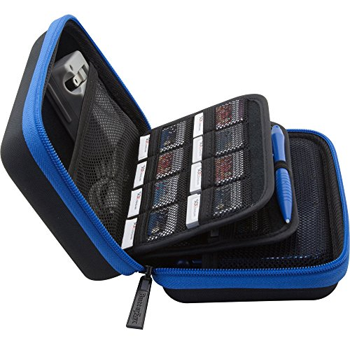 BENDO New Nintendo 3DS XL / 3DS Hard Case/Tasche with 24 Game Holders + Free Large Stylus - Blau/Schwarz