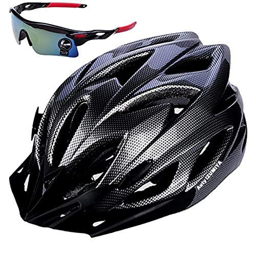 Auty IZUMIYA 自転車 ヘルメット 大人 軽量 CE認証 M L サングラスセット (ブラック)