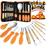 Kaqinu Halloween Pumpkins Carving Tool,13 Pcs Professional Stainless Steel Safety Carving Kit...