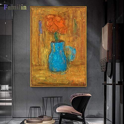 hanimj (1000 Piezas de Rompecabezas de Madera para Adultos) es e Impresiones Abstractos de Lienzo de exposición de Vintage, Moderna de Museo Pintor español, Arte de Pared, decoración para el