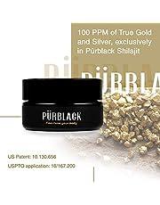 Pürblack Live Resin Echtes Gold & Silber Shilajit - Echtes, hochwirksames Shilajit der 4. Generation (30 g Dose) …