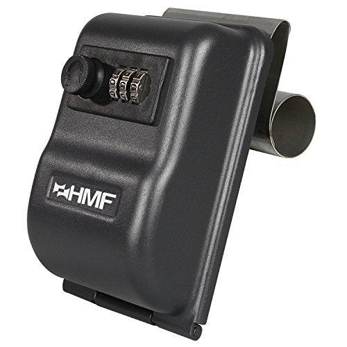 HMF 303-02 Schlüsseltresor fürs Auto Zahlenkombinationsschloss, 14,5 x 10,0 x 5,7 cm, schwarz