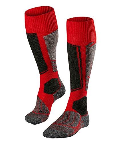 FALKE Damen Skisocken SK1, Merinowollmischung, 1 Paar, Rot (Lipstick 8000), Größe: 39-40