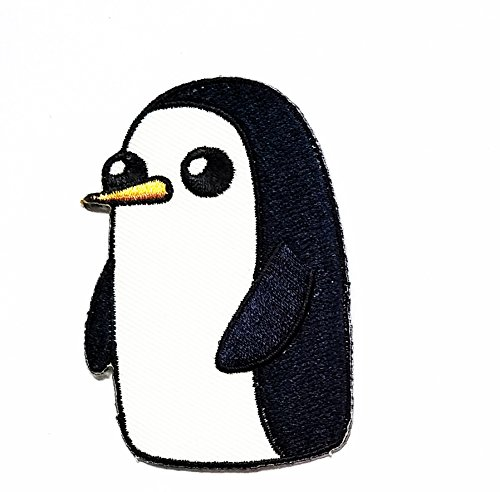 HHO Cute Penguin Cartoon Kids Patch Embroidered DIY Patches, Cute Applique Sew Iron on Kids Craft Patch for Bags Jackets Jeans Clothes