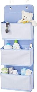 mDesign étagère suspendue sans perçage en fibre synthétique respirante – rangement suspendu à 3 poches pour la chambre d'e...