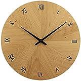 Wanduhr Holz, Eiche Natur Massivholz, besteht aus 12 Dreiecken, sehr leises Junghans Quarz Uhrwerk, 30 cm rund modern, Holzuhr Wand, Design, Qualitätsprodukt, handgemacht in Österreich, exklusiv