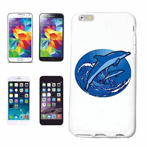 Reifen-Markt Hard Cover - Funda para teléfono móvil Compatible con Apple iPhone 6+ Plus Dos Delfines Saltando en Las Olas Delfin Delfines DELPHINIDAE cetáceos Flip