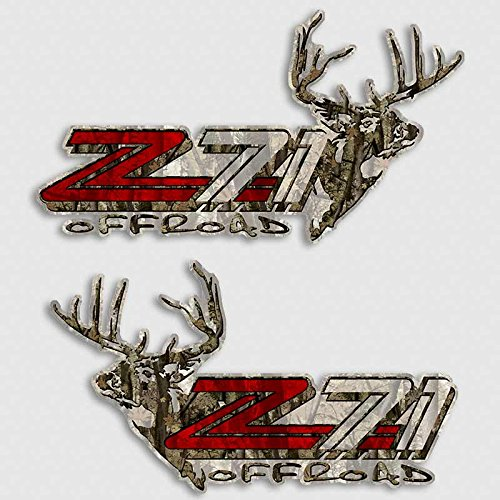 Camouflage Z71 Deer Hunting Silverado Truck Decal Set