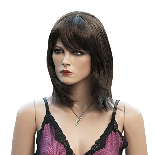 comprar pelucas mujer pelo negra y azul on-line