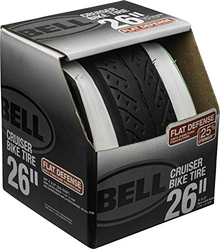 "Bell Whitewall 26"" Flat Defense Cruiser Bike Tire"