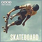 Skateboard 2021 Wall Calendar: 2021 Wall Calendar 18 Months Sports By 365 Days Calendars