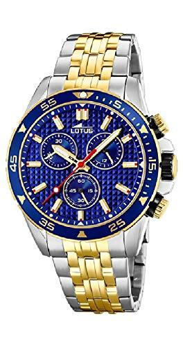 Lotus - Reloj Cronógrafo para Hombre, de Cuarzo con Correa en Acero I