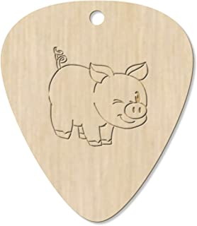 7 x 'Winking Pig' Guitar Picks / Pendants (GP00012803)