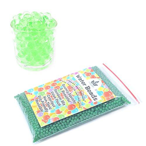 AINOLWAY 8 OZ Water Beads, Original Size Water Gel Bead Jelly Growing Balls for Kids Tactile TOS, Sensory Toys, Vase Filler (Green)