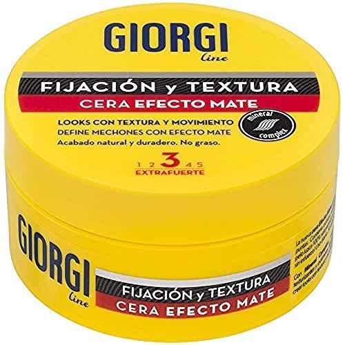 Giorgi Line - Cera con Efecto Mate, Acabado Natural para Pelo Corto- Medio, Fijación 3 Extrafuerte - 75 ml