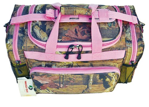 Explorer Hunting Luggage Travel Bag Mossy Oak -Realtree Outdoor Like- Hunting Camo Heavy Duty Rolling Duffel Bag with Adjustable Removable