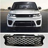 ZHANGJN Rejilla De Parrilla Delantera Media Estilo SVR Abs para Vehículo Deportivo Land Rover Range Rover 2014-2017 Año