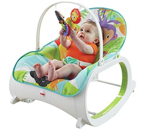 Fisher Price Wippe für Säuglinge bis Kleinkinder, 65 x 40 x 16 cm (H x B x T).