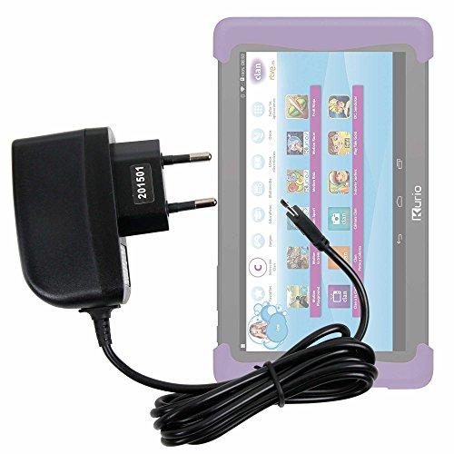 DURAGADGET Cargador (2 Amperios) para Cefatronic - Tablet Clan Motion Pro - con Conexión Micro USB Y Enchufe Europeo De Pared - Certificado por La CE