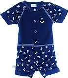 La Bortini Spieler Kurzer Sommer Baby Strampler Body 50 56 62 68 74 80 86 92 98 104 Unisex Neutral mit Anker (74)