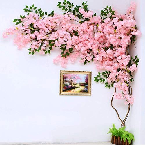 LNDDP Künstliche Kirschblüte Simulierte künstliche Blumen Gefälschte Weinreben Blumen für Zuhause Hochzeitsfeier Garten Büro Dekoration Seidenpflanzen