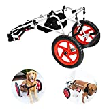 Tylu Dog Wheelchair for Back Legs, Pet/Doggie Walking Wheels Chair with Hind Legs Disabilities and Limited Mobility Used for Medium/Large Breeds 55-99 Pounds