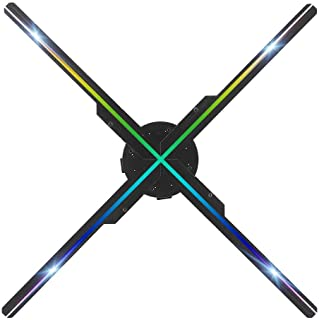 Projektor holograficzny WIFI 3D, 50 CM 4 ostrza 576 Lekki hologramowy wyświetlacz reklamowy Przenośna maszyna reklamowa z ...