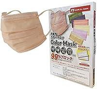 Coolth Style【日本製】不織布カラーマスク 99%カード 三層構造 使い捨てマスク 【日本国内カケンテスト認証済】国産 不織布 マスク (個包装 30枚) (オレンジ)